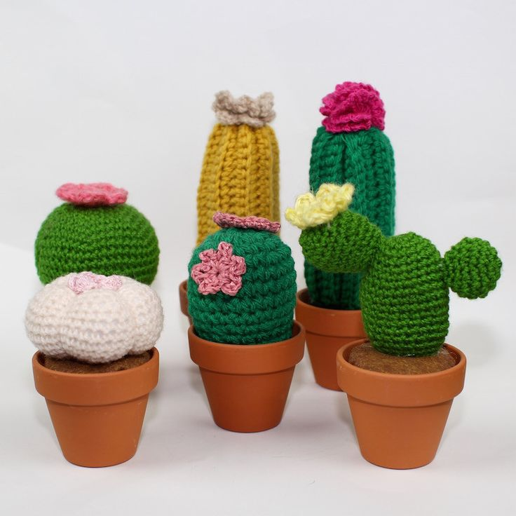 These crochet cactus are full of love and will never prick you! Perfect for those with no green thumb, this plant will never need watering and will last forever. These cactus are handmade, because of