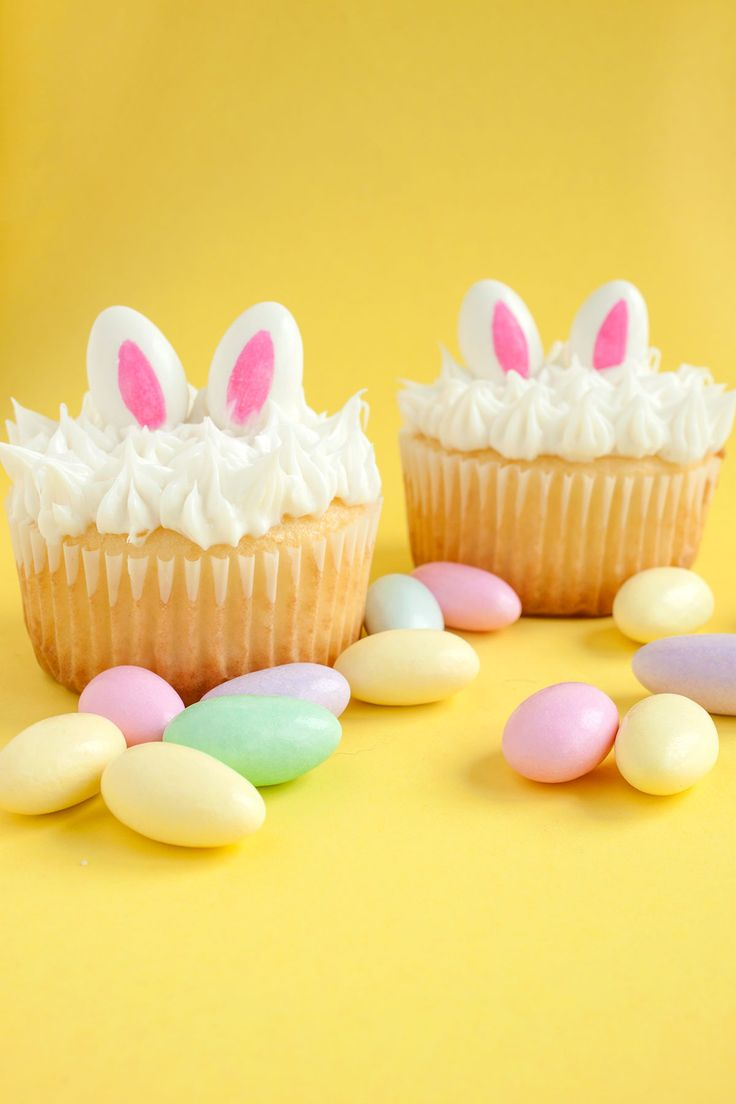 DIY Bunny Ear Cupcakes - Paint the Gown Red