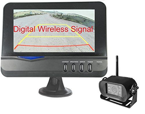 Every RV owner needs an extra set of eyes when backing up the rig … unless they have a backup camera system! This 4Ucam Digital Wireless RV Backup Camera System doesn't have a complex wire layout between the monitor and IR LED night-vision waterproof camera because it is a WIRELESS system!