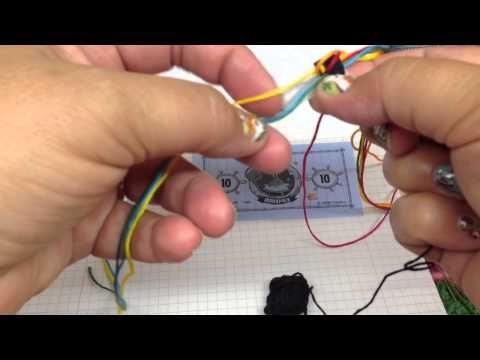 Naamarmband uitleg hoe deze te maken - how to make a name bracelet - YouTube