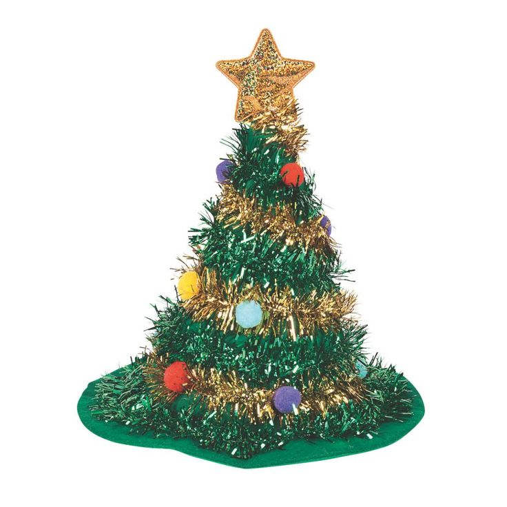 Santa Hat PLUSH CHRISTMAS TREE Cap BRAND NEW Fun Xmas Holiday Office Party