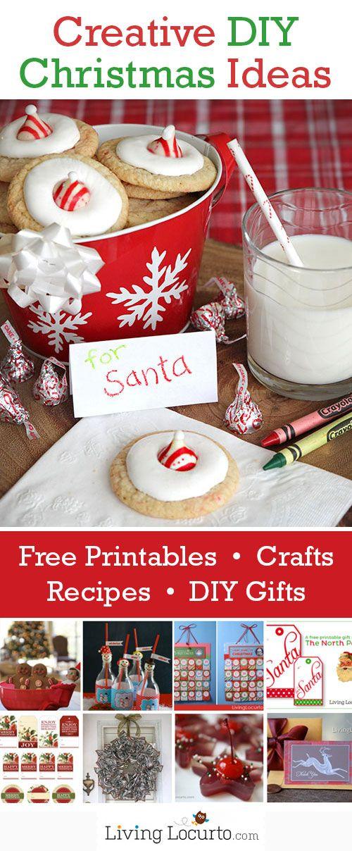 DIY Christmas Crafts, Free Printables, Recipes & Gift Ideas from LivingLocurto.com #Christmas