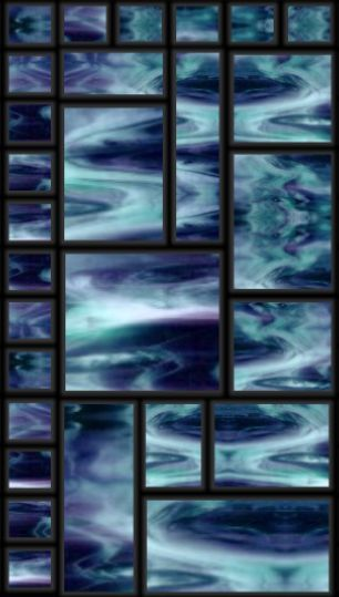 Blue modern stained glass panel background~ Use pattern for Quilt Top