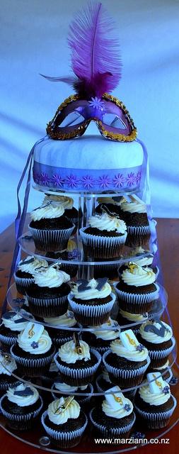 Cupcakes and Cake - Masquerade Ball