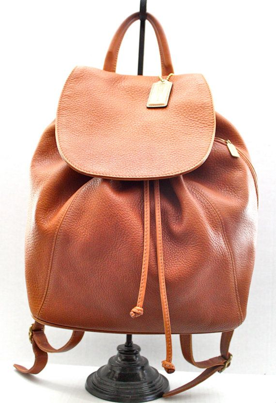 vintage pebbled leather COACH XXL backpack // by RedTuTuRetro, $180.00