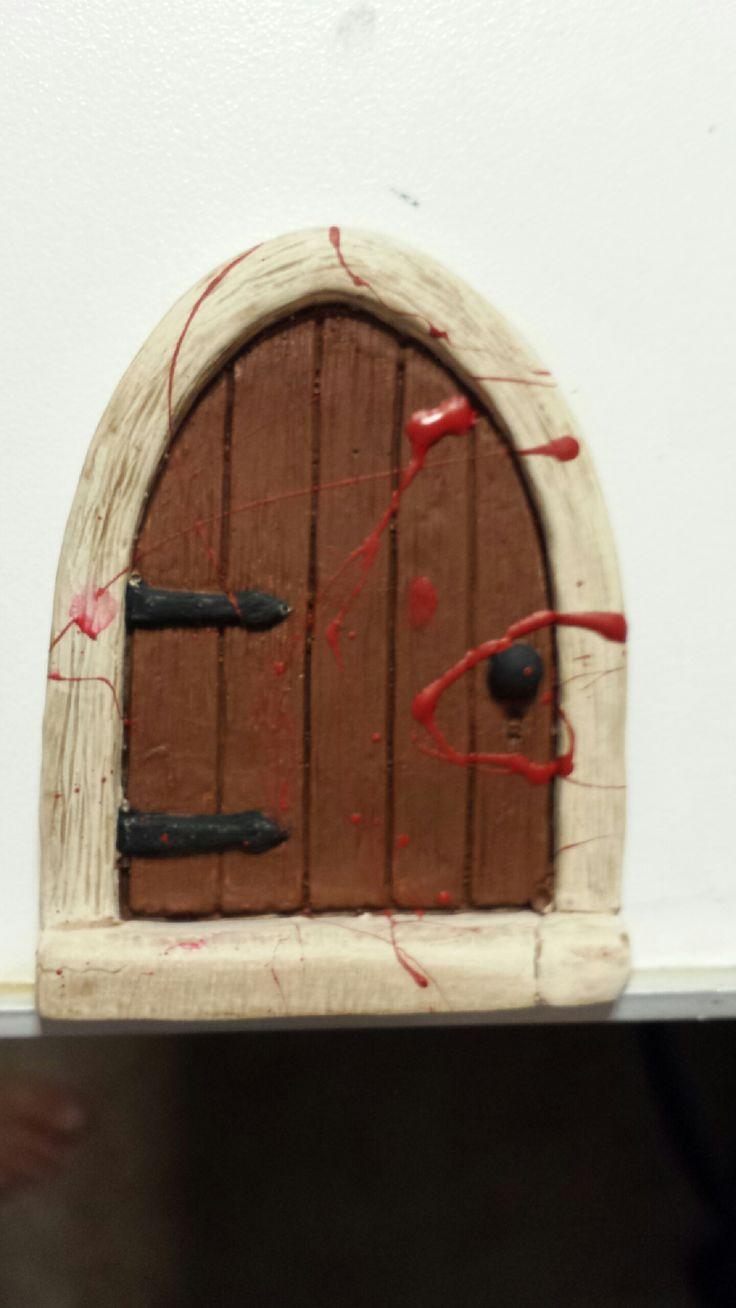 Killer Fairy door mouse door For Halloween & 132 best Fairy doors / Gnome doors images on Pinterest | Fairy ... pezcame.com