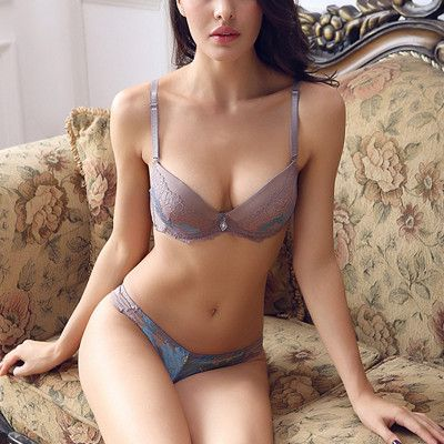 84df826a8fb DeRuiLady NEW Sexy Romantic Embroidered Lace VS Bra Sets Sexy Women  Underwear Sets Push Up BC Thongs Bra Set- Bra Panty Sets