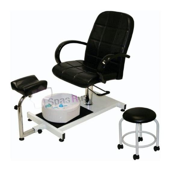 silla para pedicure hidr ulica con banco auxiliar y tina