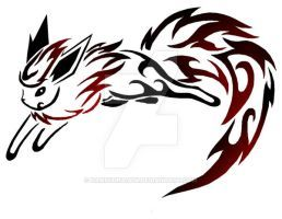 Tribal Flareon Tattoo by DansuDragon