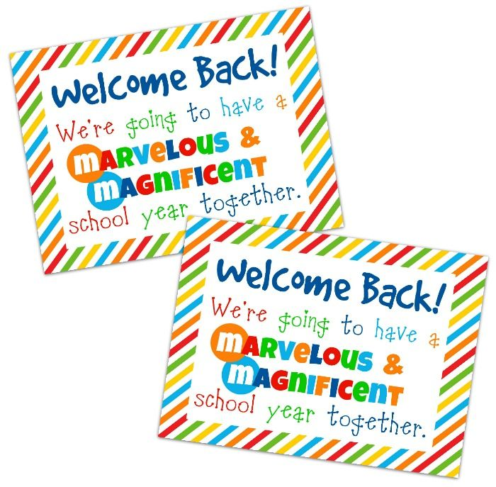 Student Welcome Gift {Free Printable} - Happy-Go-Lucky