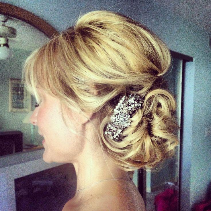Bridal hair. Vintage wedding hair. Ash and co. Charleston sc