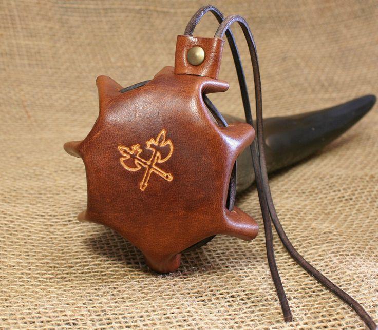 Abdeckung Deckel für Trinkhorn Leder braun Kelten Wikinger Insektenschutz | eBay
