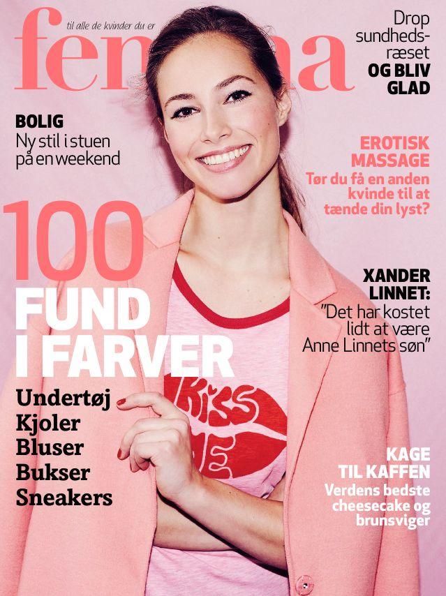 Cover of the danish magazine Femina. Model: Masja Petersen Agency: Le Management (Denmark + Sweden) TFM Models (Norway)