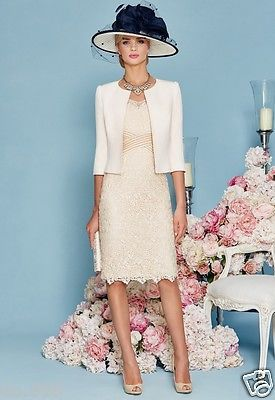 Modern Mother of the Bride Lace Dresses Beading Half Sleeve Jacket Women Dress in Clothes, Shoes & Accessories, Wedding & Formal Occasion, Mother of the Bride | eBay