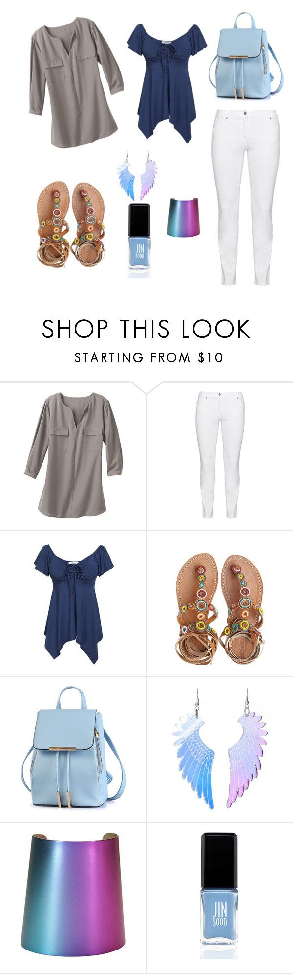 """""""Untitled #25"""" by balog-viki on Polyvore featuring TravelSmith, Steilmann, Laidback London, Tatty Devine, JINsoon and plus size clothing"""