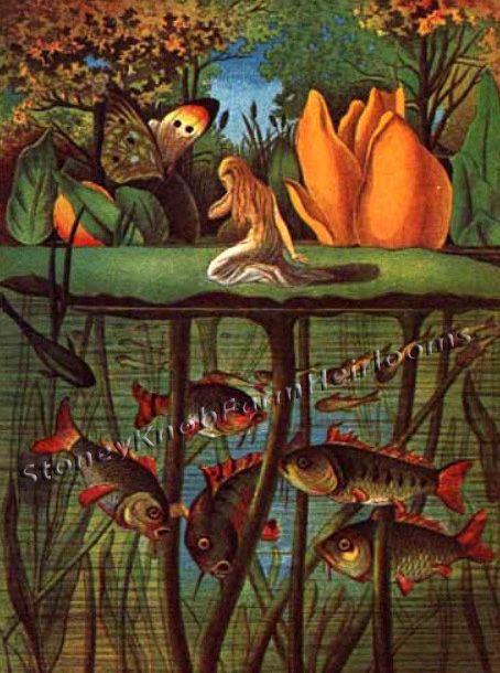 Little Mermaid ~ Vere Boyle, Fantasy, Magic ~ Cross Stitch Pattern #StoneyKnobFarmHeirlooms #Frame