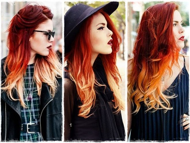 ombre hair fire - Pesquisa Google                                                                                                                                                                                 More
