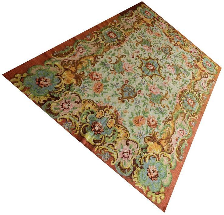 Unieke Rozenkelim / vloerkleed / kelim / tapijt / bloemen kelim uit Moldavië…
