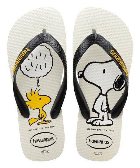 Havaianas White & Black Snoopy Flip-Flop - Women | zulily