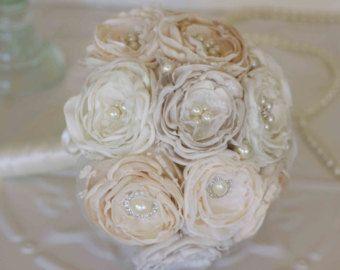 Vintage inspirierte Brosche Brautstrauß von MyVintageWeddingAust