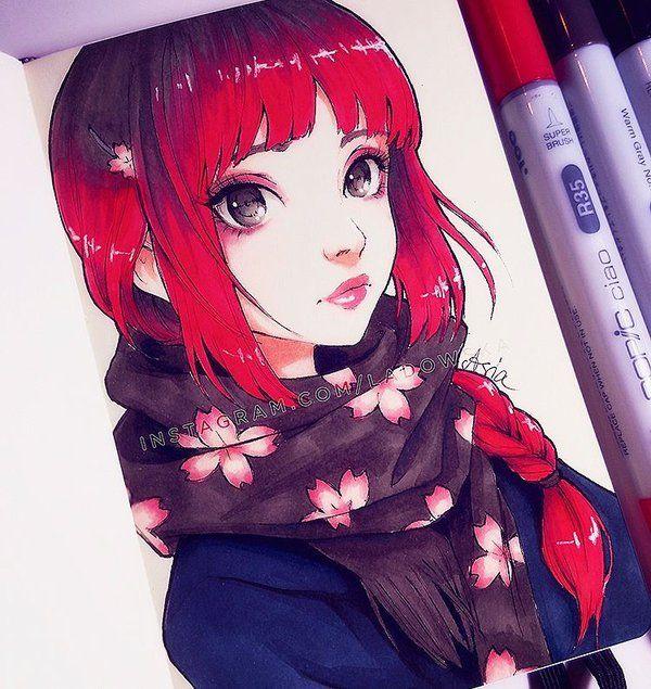 Sakura Scarf by Ladowska.deviantart.com on @DeviantArt