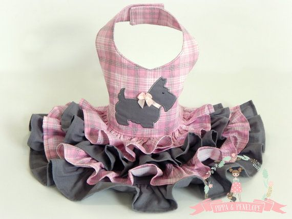 Dog Dress Dog Dresses Dog Clothing Plaid Dog by PippaAndPenelope