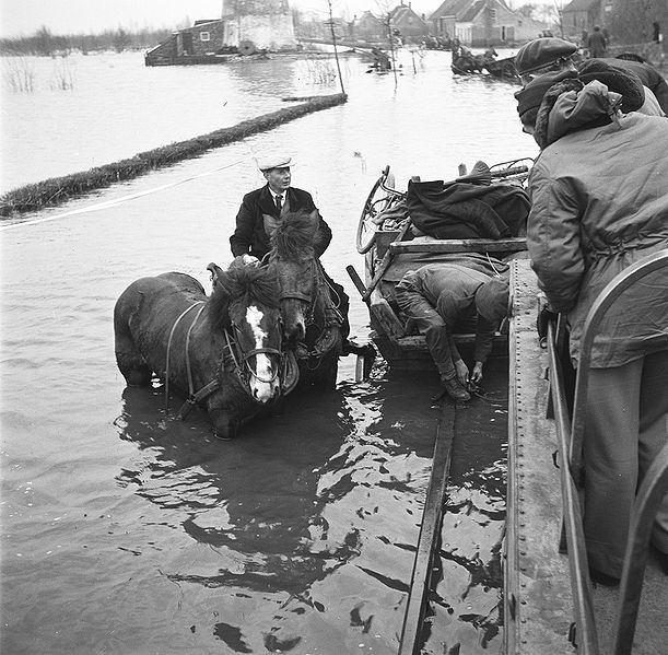 Zeeland, Walcheren, when the sea won. 1953