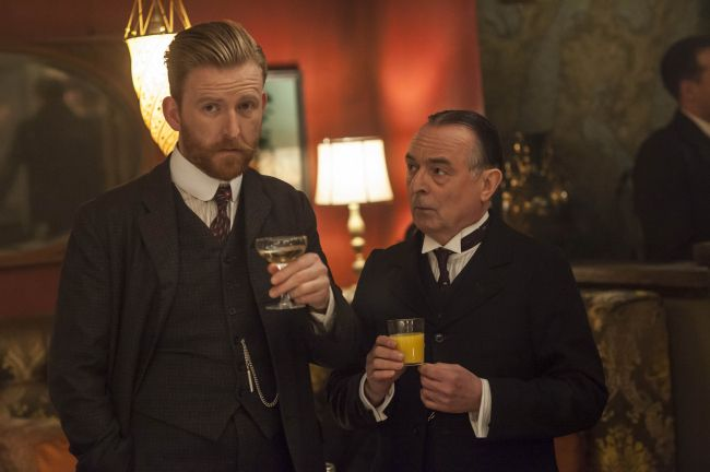 Mr. Selfridge (series 2013 - ) Starring: Tom Goodman-Hill as Roger Grove and Ron Cook as Mr. Crabb.