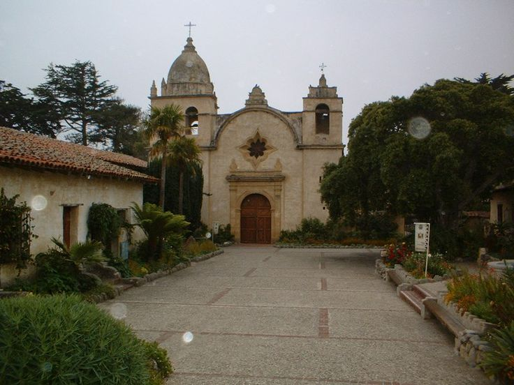 Mission San Carlos Borromeo was built in 1770 and is still a functioning church, Catholic school, and priests' residence.