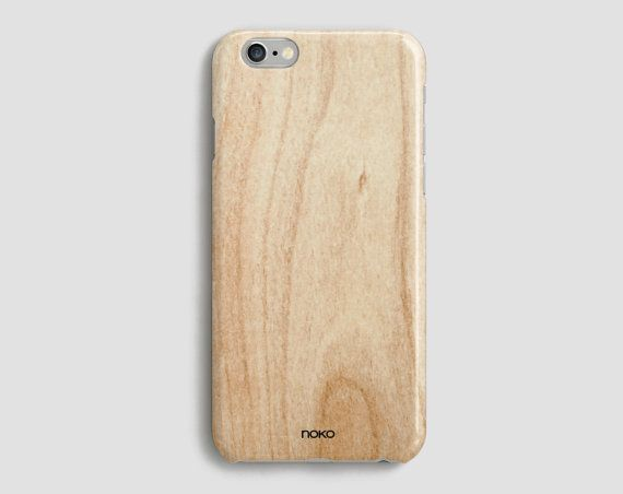 DESCRIPTION: NOKO Wood effect texture iPhone 6/s & Plus Case  Designed in Italy - Made in the US The case is made of transparent polycarbonate