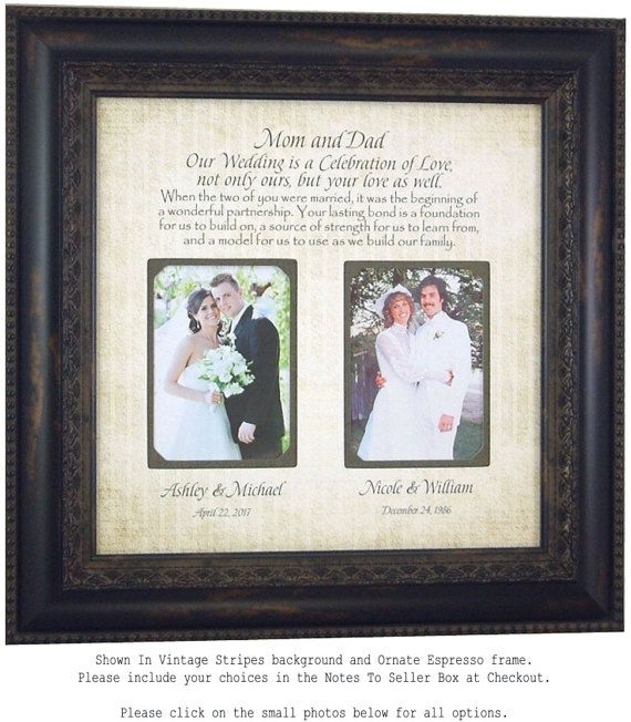 personalized picture frames wedding gift for parents mother of the by photoframeoriginals