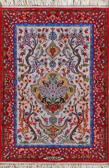 Esfahan Persian Rug, Buy Handmade Esfahan Persian Rug 2 4 x 3 5, Authentic Persian Rug $1,580.00