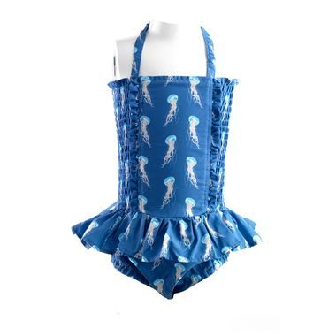 Jellyfish Ruched Swimsuit - By Rachel Riley