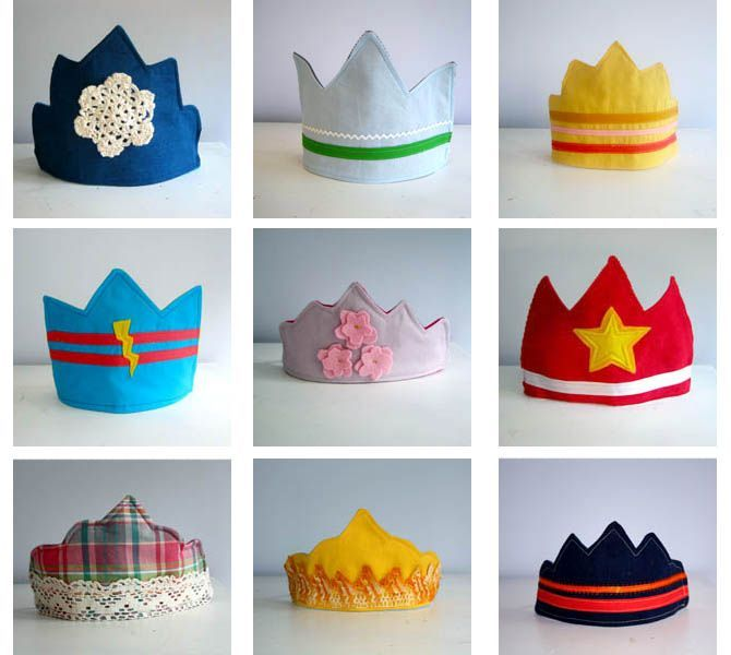 DIY Fabric Crowns (Free Templates) | Pretty Prudent