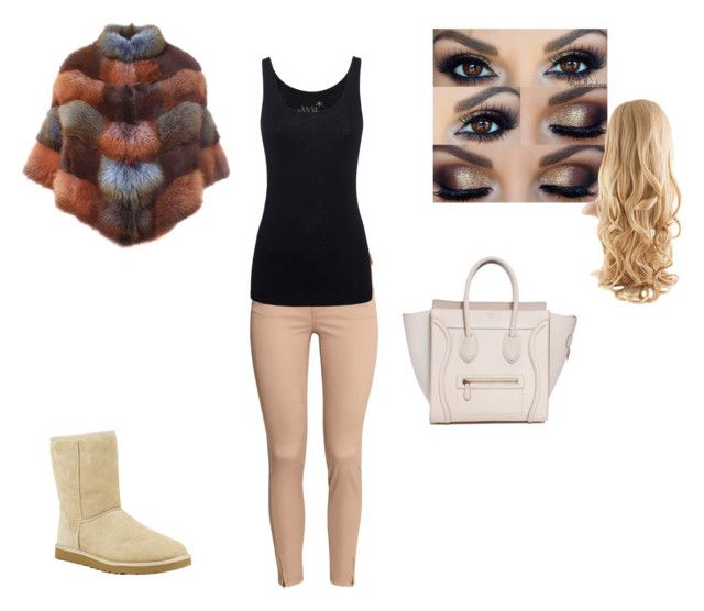 """""""Winter causal"""" by contesa-barabas on Polyvore featuring H&M, BLANCHA, Juvia and UGG Australia"""