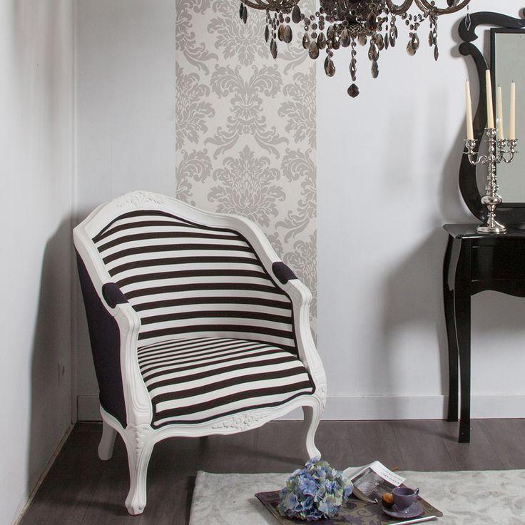 Les 25 meilleures id es de la cat gorie fauteuil cabriolet for Chambre baroque noir et blanc