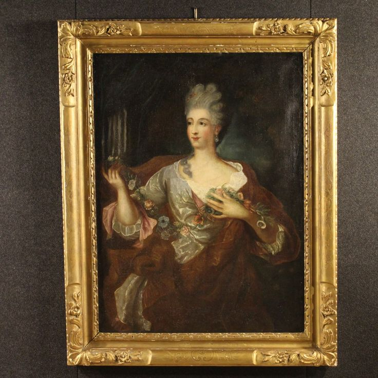 "2800€ Ancient French painting ""Portrait of a noblewoman"" of the 19th century. Visit our website www.parino.it #antiques #antiquariato #painting #art #antiquities #antiquario #canvas #oiloncanvas #portrait #quadro #dipinto #arte #tela #decorative #interiordesign #homedecoration #antiqueshop #antiquestore"