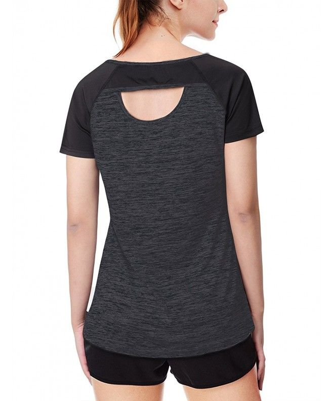 Women's Activewear Running Sport Shirts Short Sleeve Round Neck Workouts T-Shirt  Tops - Black - C118C3RNDTL | Womens active wear outfits, Sports shirts, Womens  activewear tops