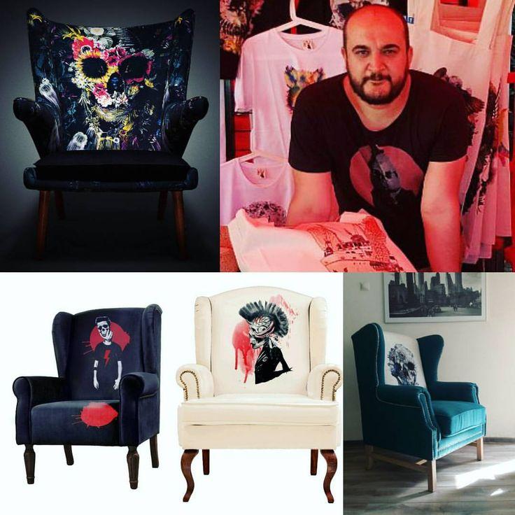 Али Гулец. Всемирно известный турецкий художник. Наш самый первый партнер. В его работах преобладает тема потустороннего, жизни и смерти, наряду с красотой природы.Его черепа, элегантно укладываются в цветочные калейдоскопы, мягко скрывая фатализм в волнах визуального удовольствия. #icondesigne #aligulec #АлиГулец #кресло #мебель #лофт #лофтмебель #эксклюзивнаямебель #эксклюзив #череп #турция #лофт #прованс #тренд