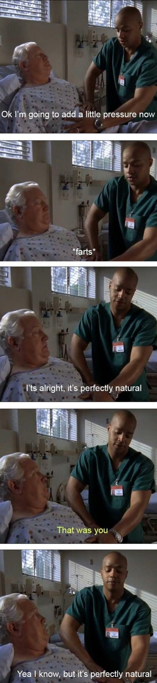 "When Turk tried to pass it off. | 27 ""Scrubs"" Moments That Will Make You Laugh Every Time"