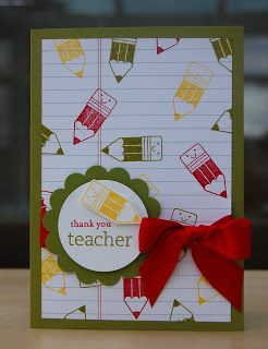 Teacher Thank You Cards Stampin Up Teacher Thank You Cards