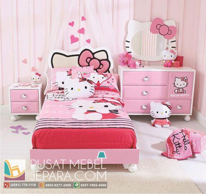set-kamar-tidur-anak-model-hello-kitty