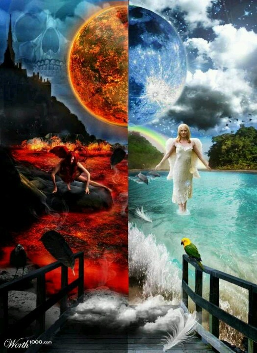 17 Best Images About Heaven And Hell On Pinterest Devil Heavens And Angel