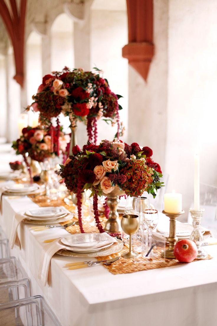 Table spring wedding tablescapes - Elegant Wine Inspired Inspiration Shoot Wedding Centrepieceswedding Tableswedding