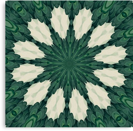 #Tropical Sacramento #Green and Silver #Leaf #Mandala #Canvas #Prints #Poster #ArtBoard  #Art #Decor 'https://www.redbubble.com/people/taiche/works/26485909-tropical-sacramento-green-and-silver-leaf-mandala?asc=t&p=canvas-print … via @redbubble