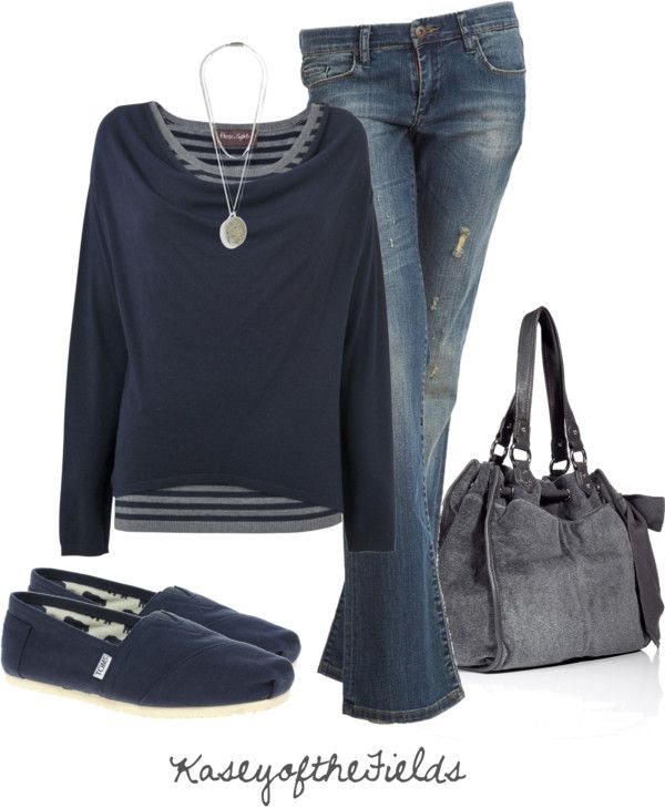 """Blue and Grey"" by kaseyofthefields on Polyvore"