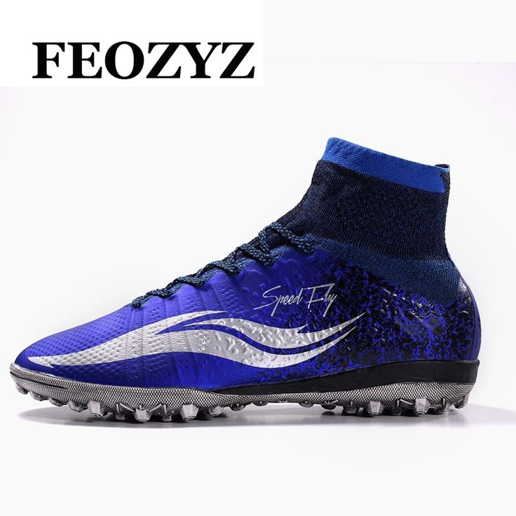(59.99$)  Watch now  - 2017 New Adult Men Football Boots High Ankle Superfly Football Shoes Hard Court Turf Soccer Shoes Cleats Voetbalschoenen 39-45
