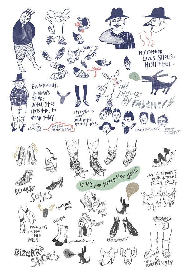 bizarre shoes. by hyunyoung Kim, via Behance