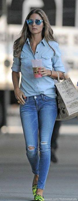 Denim Street Style   Olivia Palermo