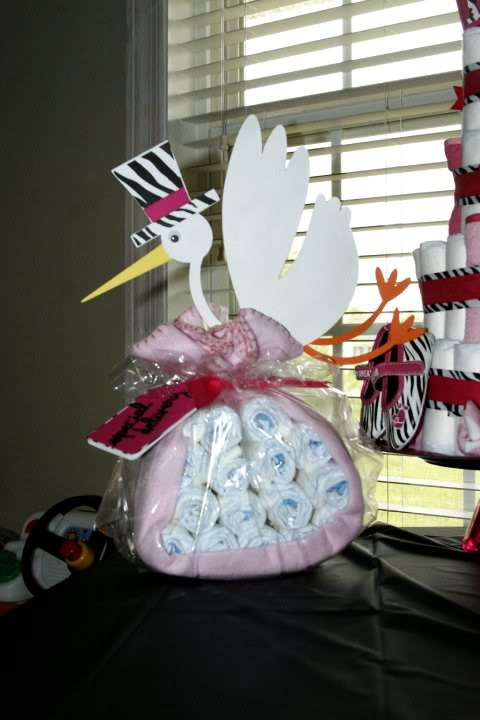 Stork bundle...i've done a cake, bicycle, now  maybe this?!